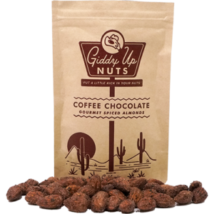 Coffee Chocolate Almonds, Giddy Up Nuts