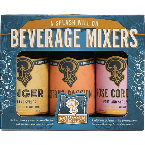 3 Pack Syrups (3 flavors: Citrus, Rose Cordial, Authentic Ginger)