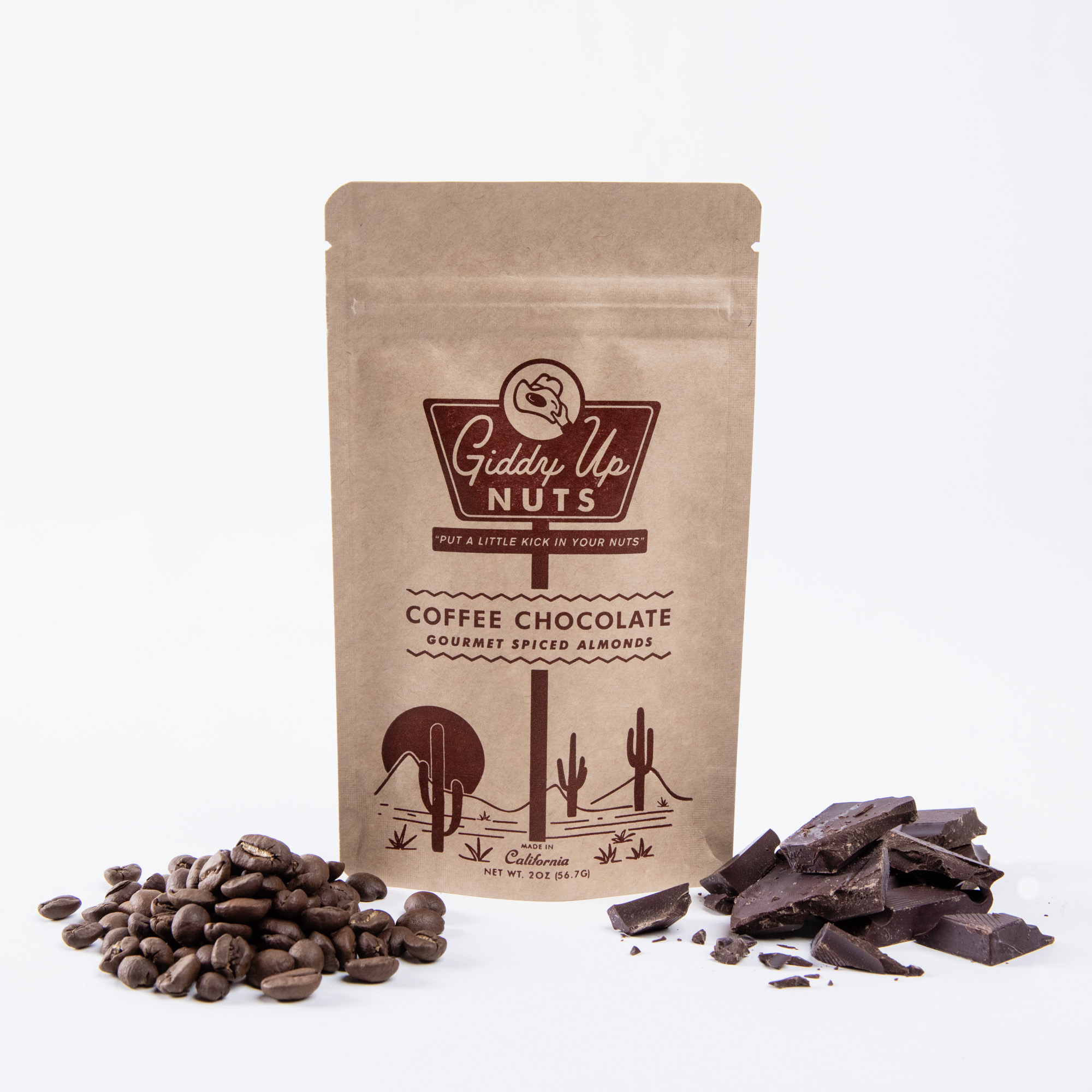 Coffee Chocolate Almonds (2 oz)